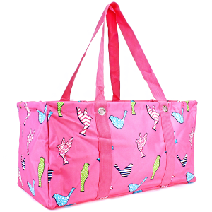 ak u26 large trunk organizer bird pattern fuchsia