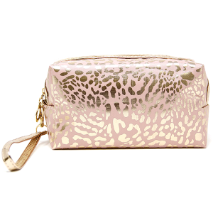 LOF PCH-140 makeup bag animal print pink