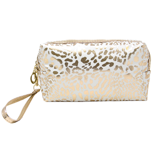 LOF PCH-140 makeup bag animal print white