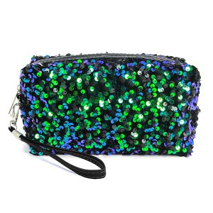 LOF PCH156 cosmetic pouch sequin black