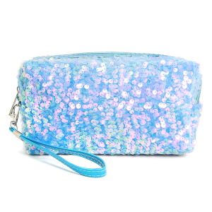 LOF PCH156 cosmetic pouch sequin blue