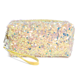 LOF PCH156 cosmetic pouch sequin gold
