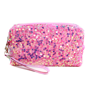 LOF PCH156 cosmetic pouch sequin pink