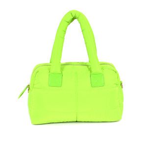3AM PP6917 quilted satchel neon green