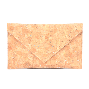 3AM PPC6601 envelope clutch cork silver