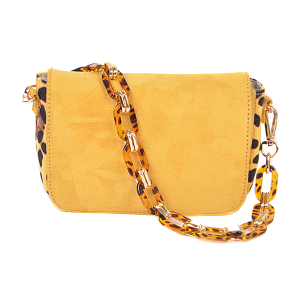3AM PPC 6607 leopard crossbody yellow