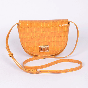 3AM PPC6772 croc skin crossbody mustard yellow