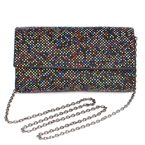 3AM PPC6783 rhinestone clutch multi