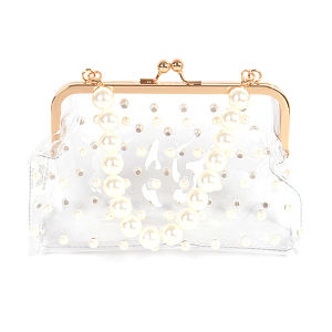 3AM PPC6929 clear pearl clutch ivory