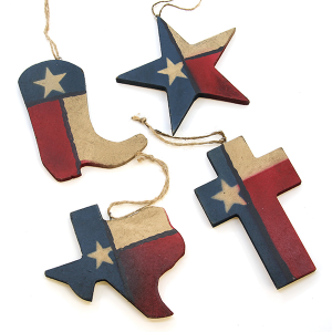 RT RA5416 ornament 4pc Texas theme