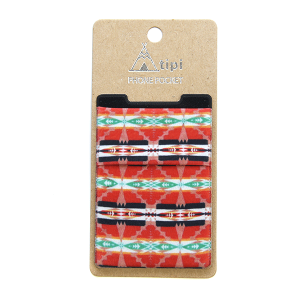 Phone Pocket 005 12 Tipi geometric multi red