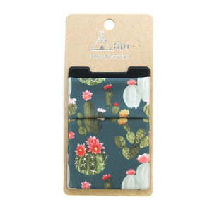 Phone Pocket 015 12 Tipi floral cactus green