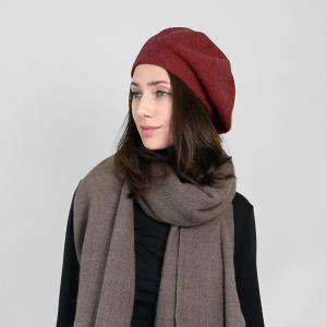 winter cap 096 30 KW soft beret burgundy