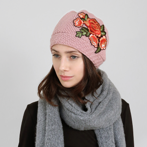 winter cap 022a 30 KW beanie rose pink