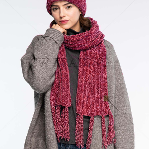 Scarf 228 CC Exclusives Chenille Oblong Scarf hot pink