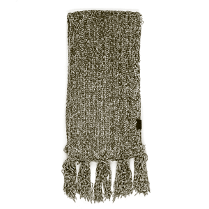 Scarf 432a 82 CC Chenille ribbed fringe wrap new olive green
