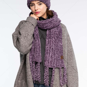 Scarf 229d CC Exclusives Chenille Oblong Scarf violet