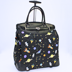 luggage 6419 rolling duffle outer space black