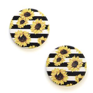 Car Coaster 035 12 Tipi sunflower stripe