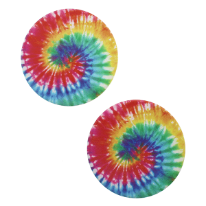 Car Coaster 054 12 Tipi spiral tie dye multi