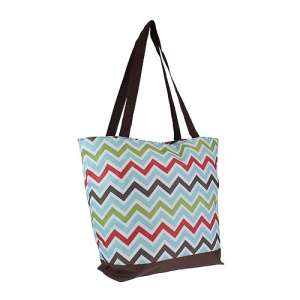 Luggage ST18 1323-B CK tote chevron multi