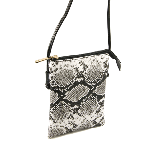 Toami TG10039 mini crossbody python snake black