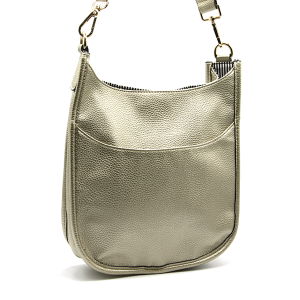Toami TG10171 front pocket crossbody bag leatherette gold