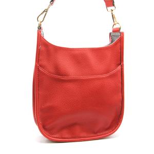 Toami TG10171 front pocket crossbody bag leatherette red