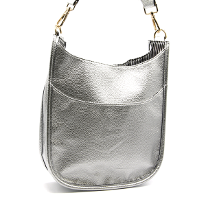 Toami TG10171 front pocket crossbody bag leatherette silver