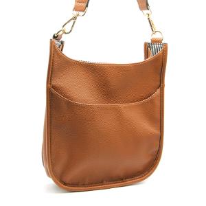 Toami TG10171 front pocket crossbody bag leatherette tan
