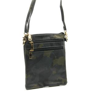 Toami TG10176 mini zipper pocket crossbody bag camo black green