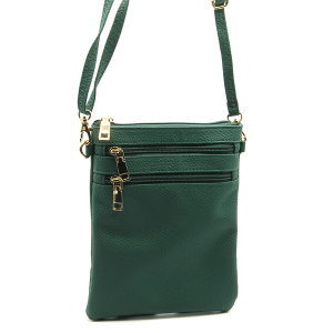 Toami TG10176 mini zipper pocket crossbody bag leatherette green