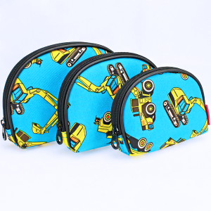 luggage 1003 3pc oval cosmetic pouch trucks turquoise
