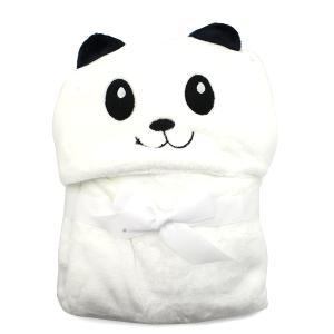 Hooded baby towel TW-1004 panda white