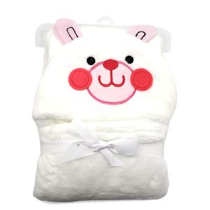 Hooded baby towel TW-1004 rabbit white