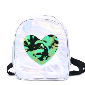 Backpack UBP-7970D Iridescent Heart Silver