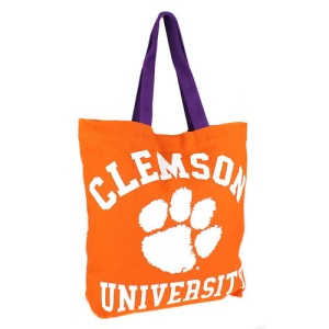 cm ucu 032 Clemson University tote orange