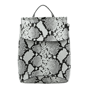 Handbag Republic UN-0069 snake print fashion backpack black
