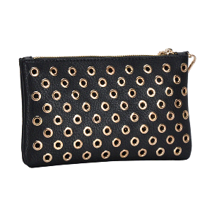 MMS WLW 5783 Fashion Grommet Clutch Black