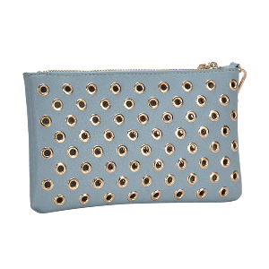 MMS WLW 5783 Fashion Grommet Clutch Blue
