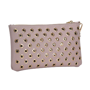MMS WLW 5783 Fashion Grommet Clutch Mauve Pink