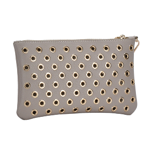 MMS WLW 5783 Fashion Grommet Clutch Taupe