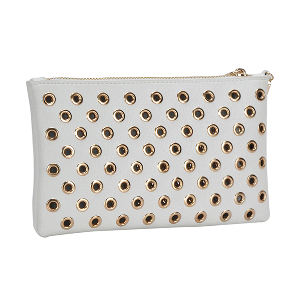 MMS WLW 5783 Fashion Grommet Clutch White