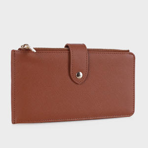 Isabelle WS1190 bifold vegan leather wallet brown