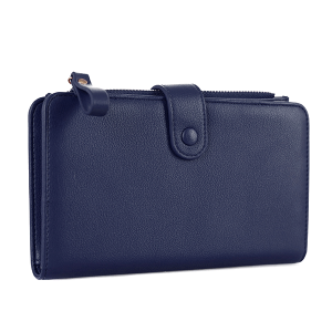 Isabelle WS 1191 cell phone wallet vegan leather navy