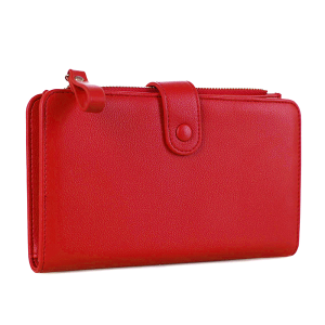 Isabelle WS 1191 cell phone wallet vegan leather red