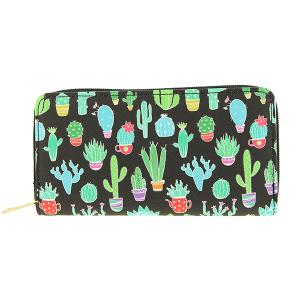 Bijorca WT377X104 zipper wallet cactus black