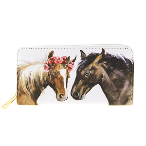 Bijorca WT377X156 zipper wallet horse couple
