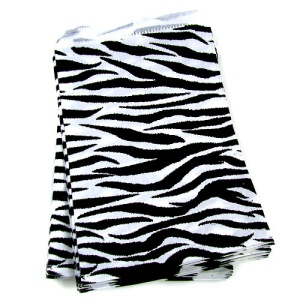 display 9X6 jewelry paper bag 100pc zebra