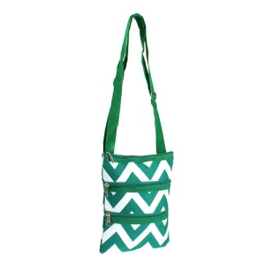 ak T10 601 messenger bag chevron green